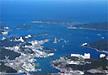 上空からの鳥羽湾の写真